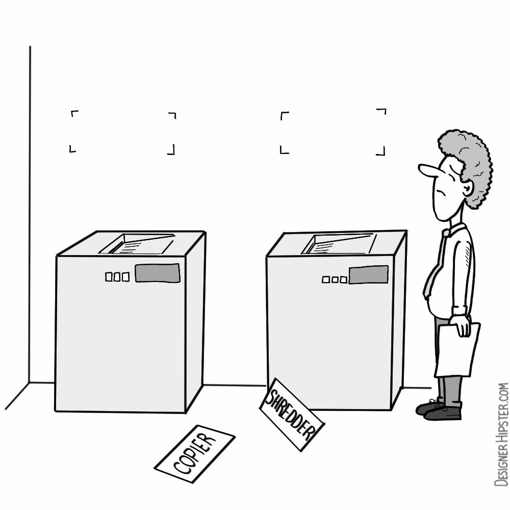 Office Cartoons Designer Hipster Cartoons